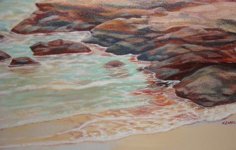 Detail of mural, A perfect Wave
